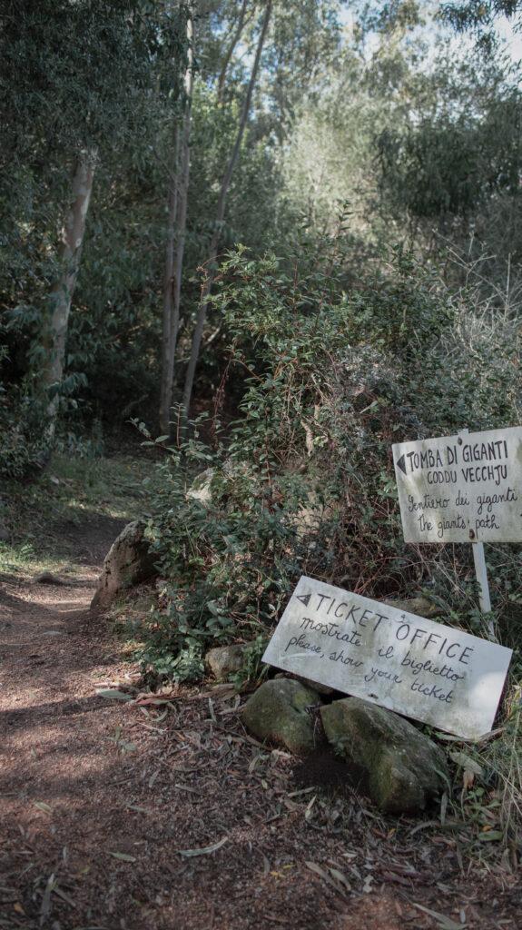Sentiero per toma dei giganti code Vecchju