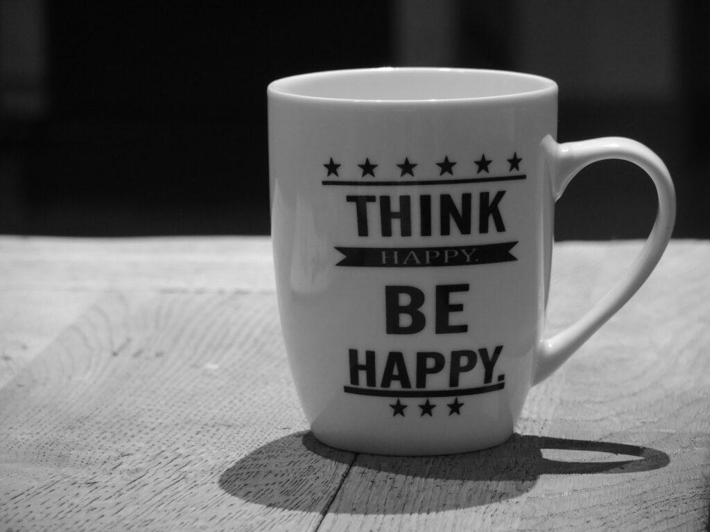 tazza pensare positivo